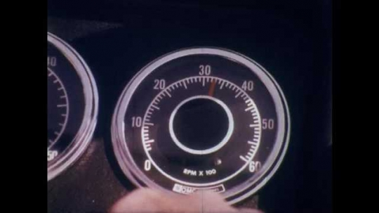 1970s: Speedometer at 33. Four people on small boat cruising through water. Boat moving through water, passengers smiling. Two people on small two-person fishing boat with outboard motor.