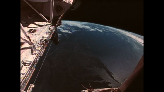 UNITED STATES: 1990s: view of Earth from space shuttle.