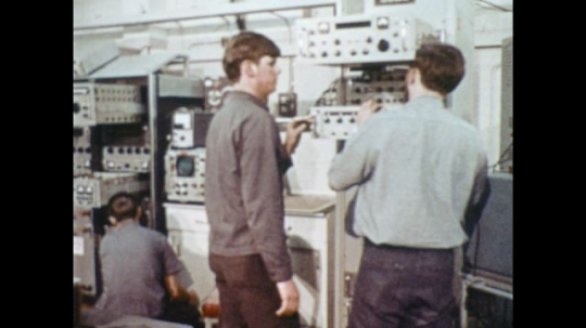 UNITED STATES: 1970s: Navy recruits learn electronics at school.