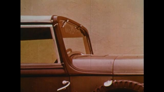 UNITED STATES 1970s: Illustration of car windshield.
