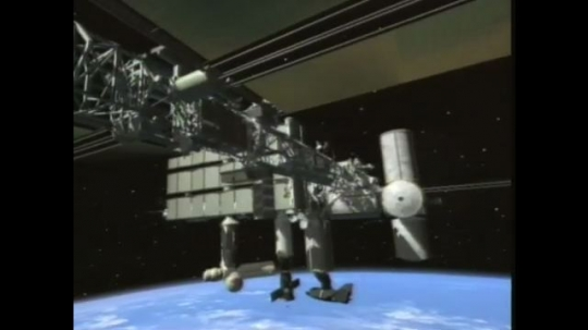 UNITED STATES: 1990s: international space station computer simulation.