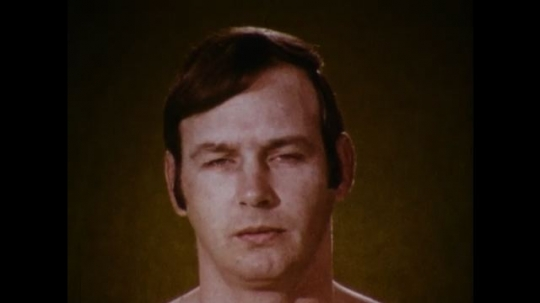 United States: 1970s: close up of man