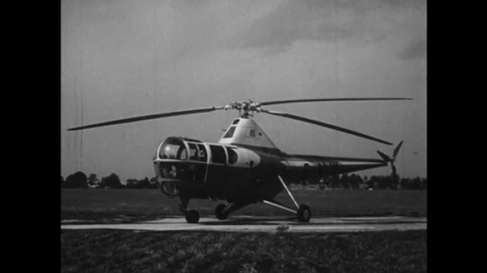 UNITED STATES: 1950s: modern day helicopter.