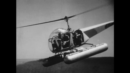 UNITED STATES: 1950s: Flying Banana military helicopter. Piasecki helicopter.