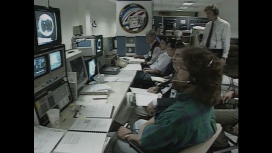 UNITED STATES: 1990s: fluid physicists watch behaviour of liquids in space.