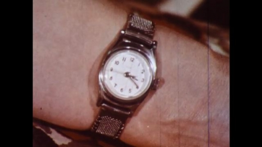 UNITED STATES 1960s: Close up of watch.