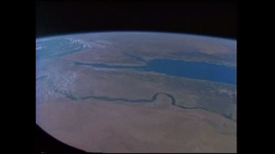 UNITED STATES: 1980s: view of earth from space. Middle East from space. Earth observation research. Space photography