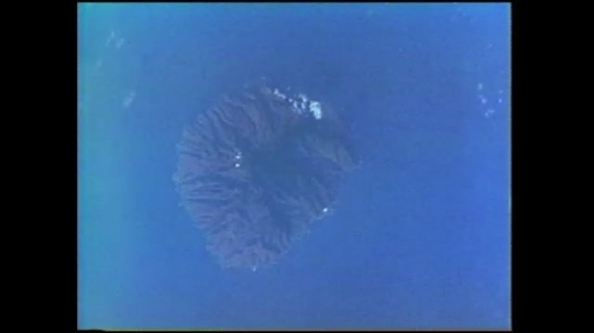 UNITED STATES: 1980s: Canary Island volcanoes from space.