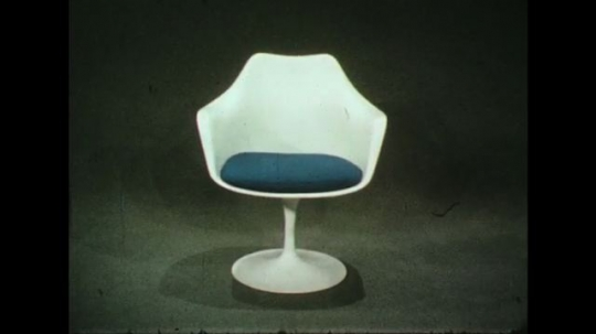 UNITED STATES 1960s: The effect of minimalistic furniture on the transmission of information to viewers.