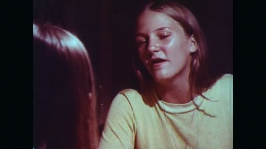 UNITED STATES: 1970s: girls talk in kitchen. Boy gets drunk at house